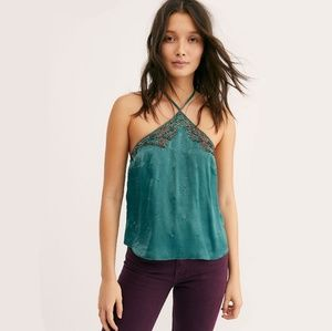 New Free People Green Victoria Cami Size Large